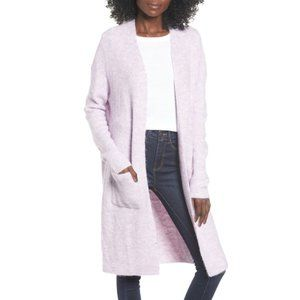 Leith Midi Open Cardigan Purple